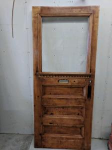 Antique front door. Solid wood.