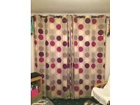 Floor length curtains 168 x 228cm