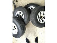 """265 70 R15 Tyres and Alloys 15"""" Pajero"""