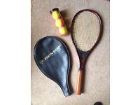 Browning Tennis Racket, cover & balls