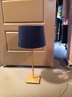 Fun blue and gold table lamp