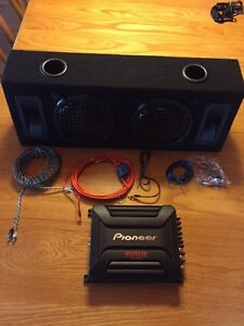 "Two 6 1/2"" subs in a box with pioneer 400W amp Stratford Kitchener Area image 2"