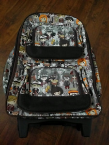 20 inches soft shell carry on + backpack