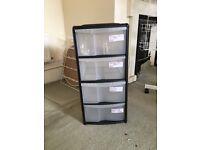 4 Drawer plastic storage unit
