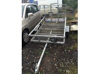 Galvanized lightweight quad/bike trailer fold out ramp