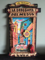 Colorful & Fun wood picture from Cuba