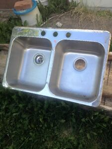 stainless steel sink(double) or obo