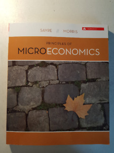Principles of Microeconomics, 8th Ed., by Sayre and Morris
