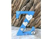 Personalised Wooden Letters with Wooden shapes