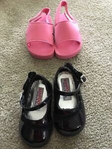 6 pairs Baby girl shoes size 3 and 4 $15