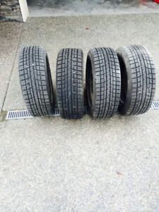 Like New Steel Wheel mounted Winter Tires for Sale