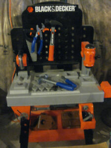 Black & Decker work shop with tools included $40, good condition