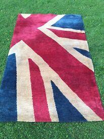 Beautiful 100% Wool Vintage Style Union Jack Rug
