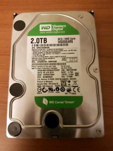 Western Digital 2TB green internal hard drive