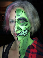 Halloween face/body painting!