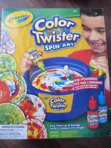 Colour twister spin art by Crayola