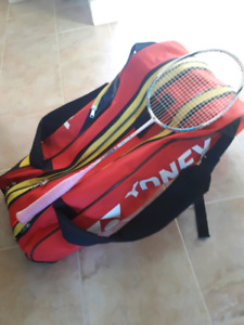 Badminton racket and Bag