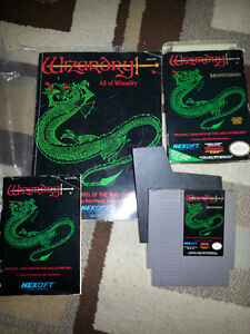 Wizardry - Nes -Nintendo - With Strategy Guide
