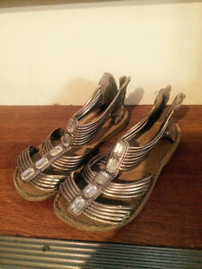 Size 10 silver summer shoes