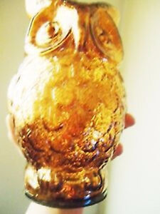 """7.5"""" Tall Copper Glass Owl Figurine - NEW + Other Owl Figurines"""