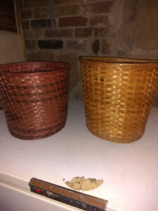 Wicker Waste Baskets