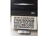 Sky HD box with remote. Barely used