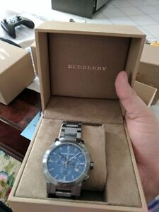 BURBURY CHRONOGRAPH TITANIUM WATCH BRAND NEW IN BOX