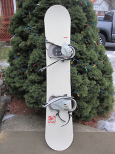 LTD Snowboard 151 with Limited Bindings
