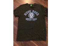 Hugo boss dark green tshirt size large