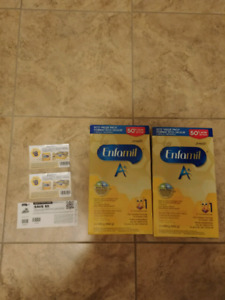Enfamil A+ eco-refill 40$ chaque + 3 coupons