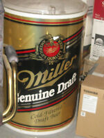 Miller Genuine Draft Stand Up Beer Cooler with dome hinged lid