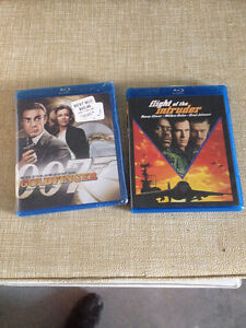 James Bond GoldFinger (new) & Flight of the Intruder BLUE RAY