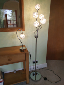 Set of stunning matching electric lamps, perfect condition.