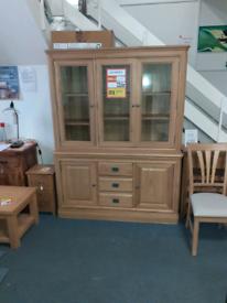 Large oak Welsh dresser