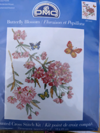 Brand new butterfly blossom cross stitch