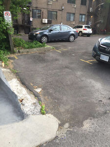 Great parking spot near McGill and Plateau for $100/mth only