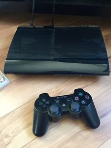 PS3 Super slim with controller and 9 games
