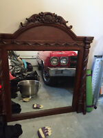 "Mirror for dresser 52"" x 50"" - as new"