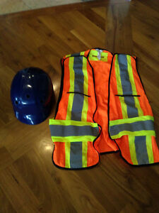 Safety Vest and Helmet