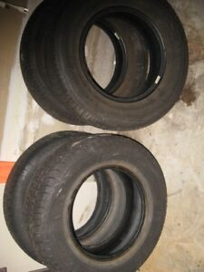 Tires for sale; 4 for $80; P215-70-R15; one 235-60-R16
