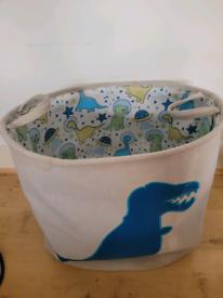 Free dinosaur laundry/toy basket