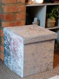 Crushed Velvet Storage Cube
