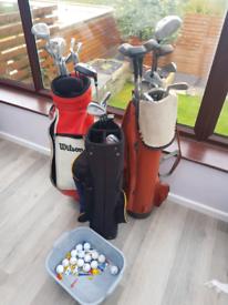 Job lot golf clubs bags and balls