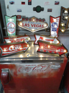 LED LIGHT BEER AND SODA SIGNS