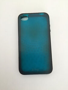 iPhone 4/4s blue silicone case used