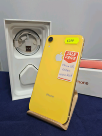 iPhone XR 64gb Yellow Unlocked in Prestine Condition Boxed