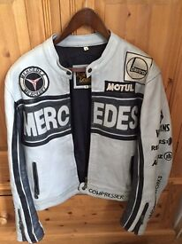 Vintage leather Mercedes Biker Jacket - Medium