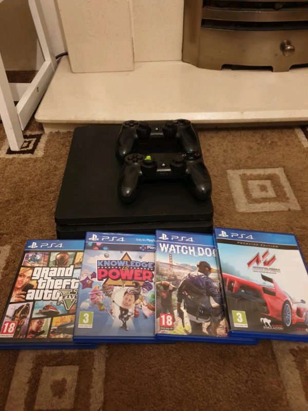 Playstation 4 slim with 4 games and 2 controller's | in Sunderland, Tyne  and Wear | Gumtree