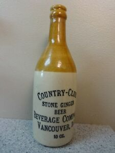Ginger Beer Bottle ~Country Club Vancouver B.C.