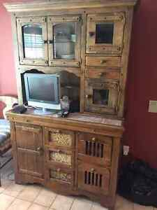Beautiful Country Casual Hutch